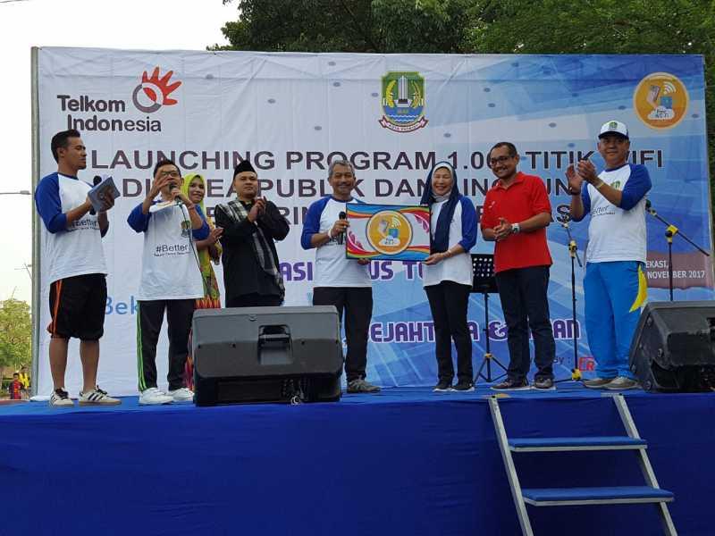 Diskominfostandi Lauching Program 1.000 Titik Wifi Di Area Publik Kota Bekasi