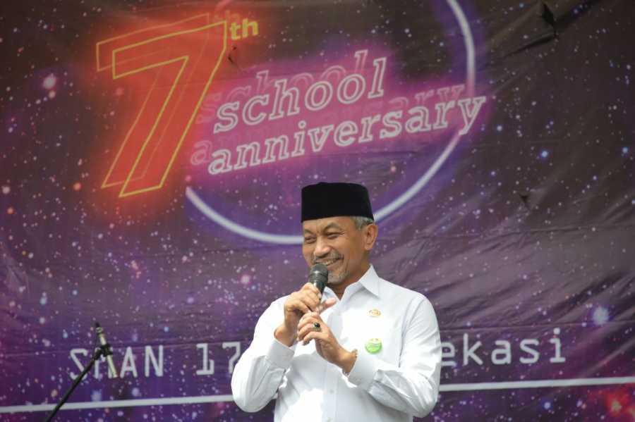 Ahmad Syaikhu Ucapkan Selamat Milad Ke-7 SMAN 17 Kota Bekasi