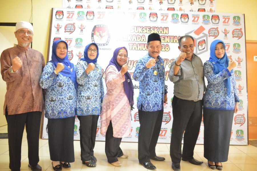 Ruddy Gandakusumah Berkoordinasi dengan KPU Kota Bekasi