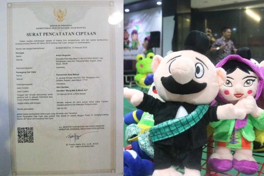 Boneka Bang Bek dan Mpo Asih Resmi Mendapat Hak Cipta