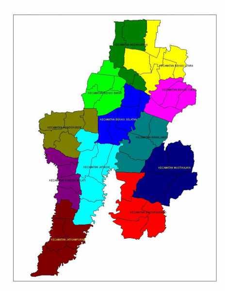 Pemerintah Kota Bekasi peta administrasi wilayah kota bekasi