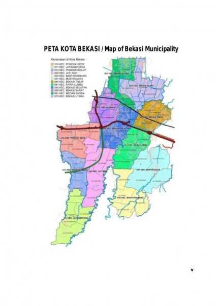 Pemerintah Kota Bekasi kondisi geografis wilayah kota bekasi