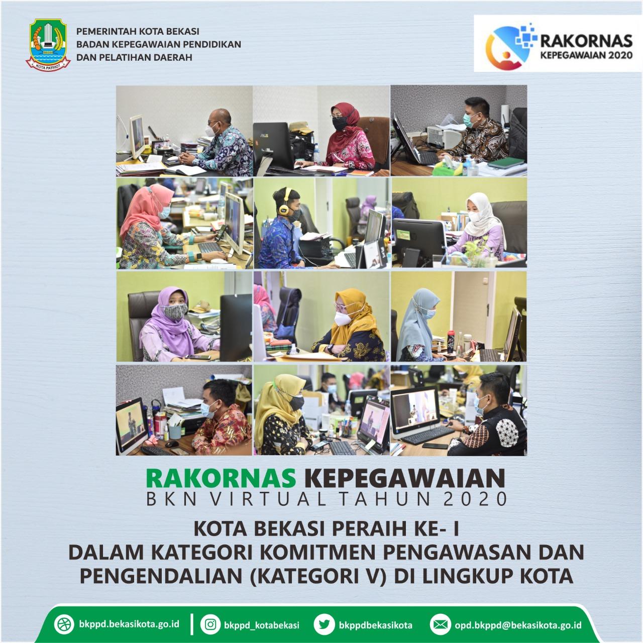 Pemerintah Kota Bekasi Kota Bekasi Raih Penghargaan Bkn Award 2020