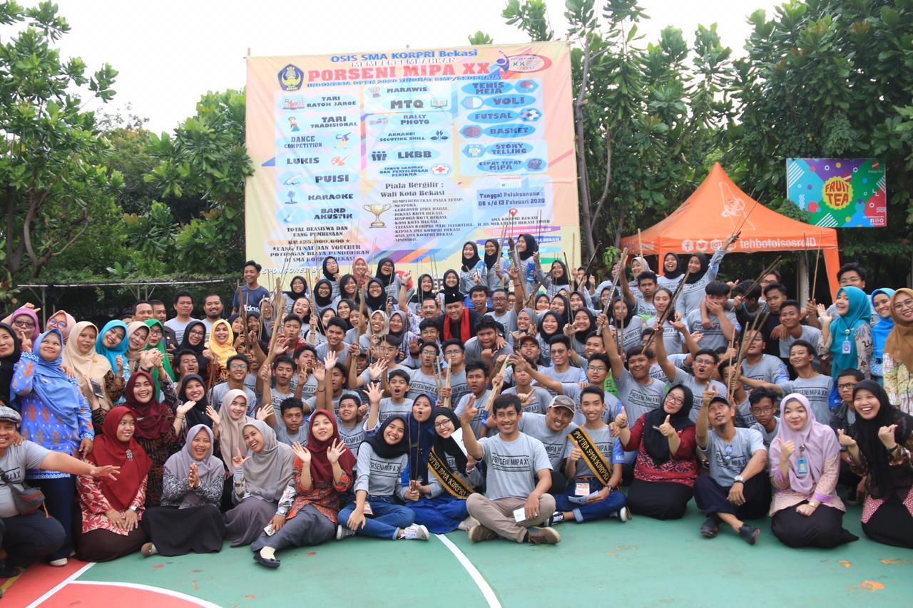 Wakil Wali Kota Bekasi Tutup Kegiatan Porseni Mipa XX di SMA Korpri Kota Bekasi