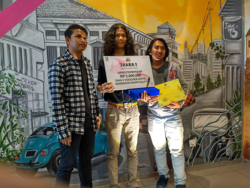 Juara Lomba Mural Munculkan Sisi Asyik Bekasi