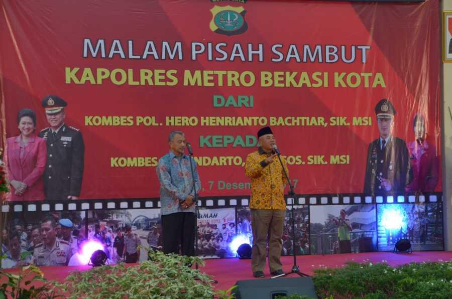 Wali Kota dan Wawali Hadiri Acara Lepas Sambut Kapolres Metro Bekasi