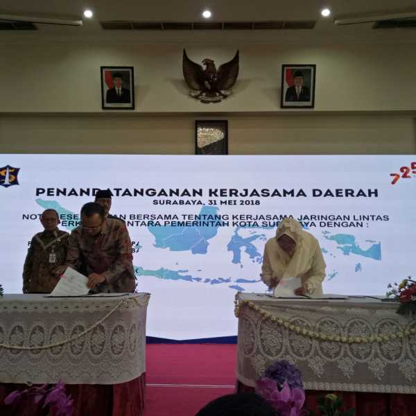 Penandatanganan Nota Kesepahaman Bersama Antara Pemkot  Surabaya Dan  Pemkot Bekasi