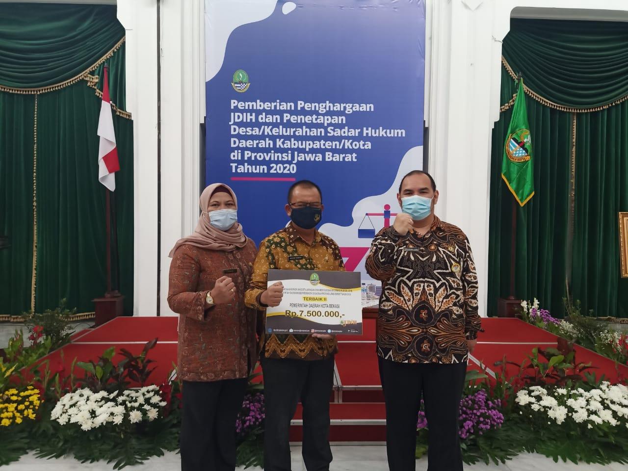 Pemkot Bekasi Raih Terbaik Kedua JDIH Se-Provinsi Jawa Barat