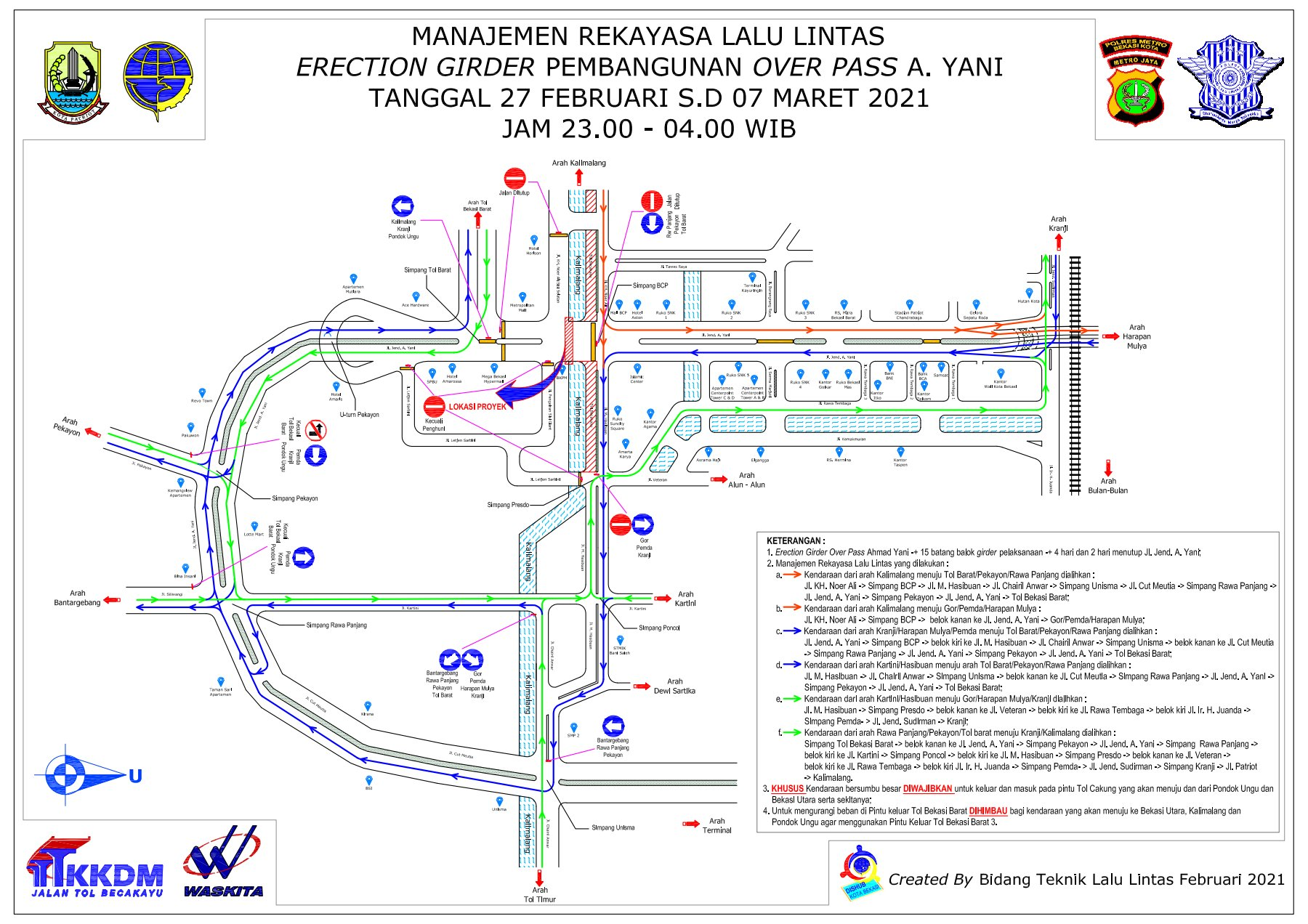 Manajemen Lalin pada Lanjutan Proyek Becakayu Melewati Jalan Ahmad Yani Bekasi
