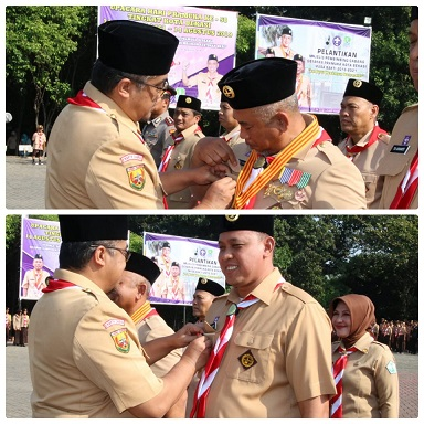 Wali Kota dan Wakil Wali Kota Dilantik Menjadi Pembimbing Cabang Gerakan Pramuka Kota Bekasi.