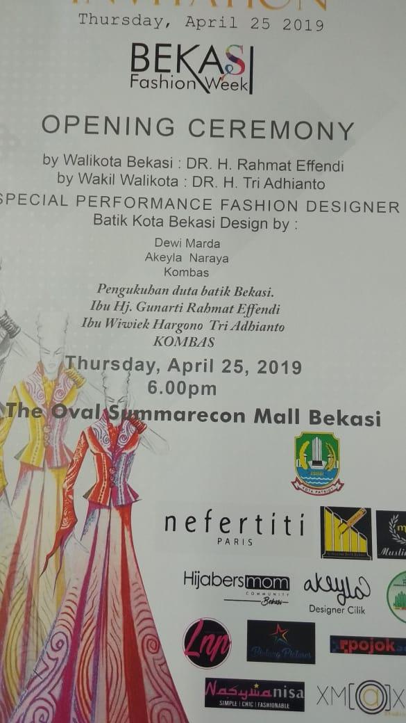 Bekasi Fashion Week 2019 Ajang Naik Kelas Desainer Bekasi