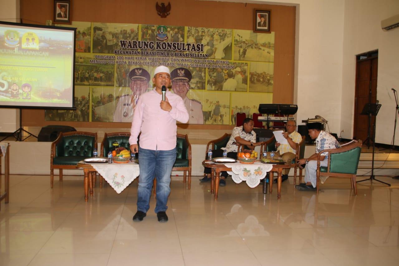 Ekspose Kunker Lapangan Wali Kota di Kecamatan Bekasi Timur dan Bekasi Selatan