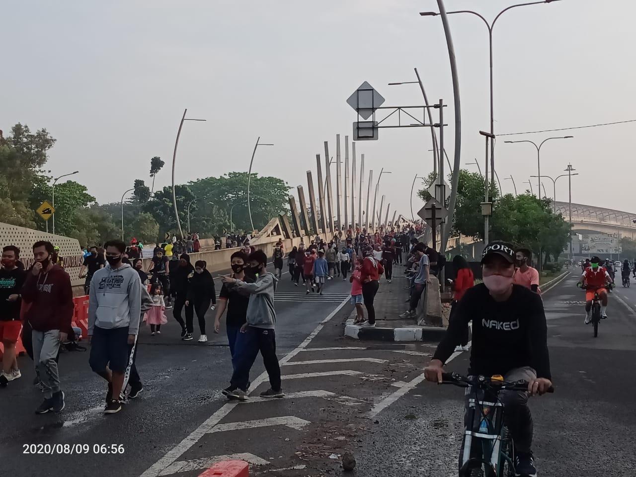 CFD Kota Bekasi Kembali Dibuka, Warga Dihimbau Terapkan Protokol Kesehatan