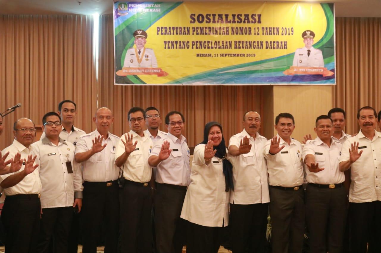 Sekda Kota Bekasi Buka Sosialisasi PP Nomor 12 Tahun 2019 Tentang Pengelolaan Keuangan Daerah