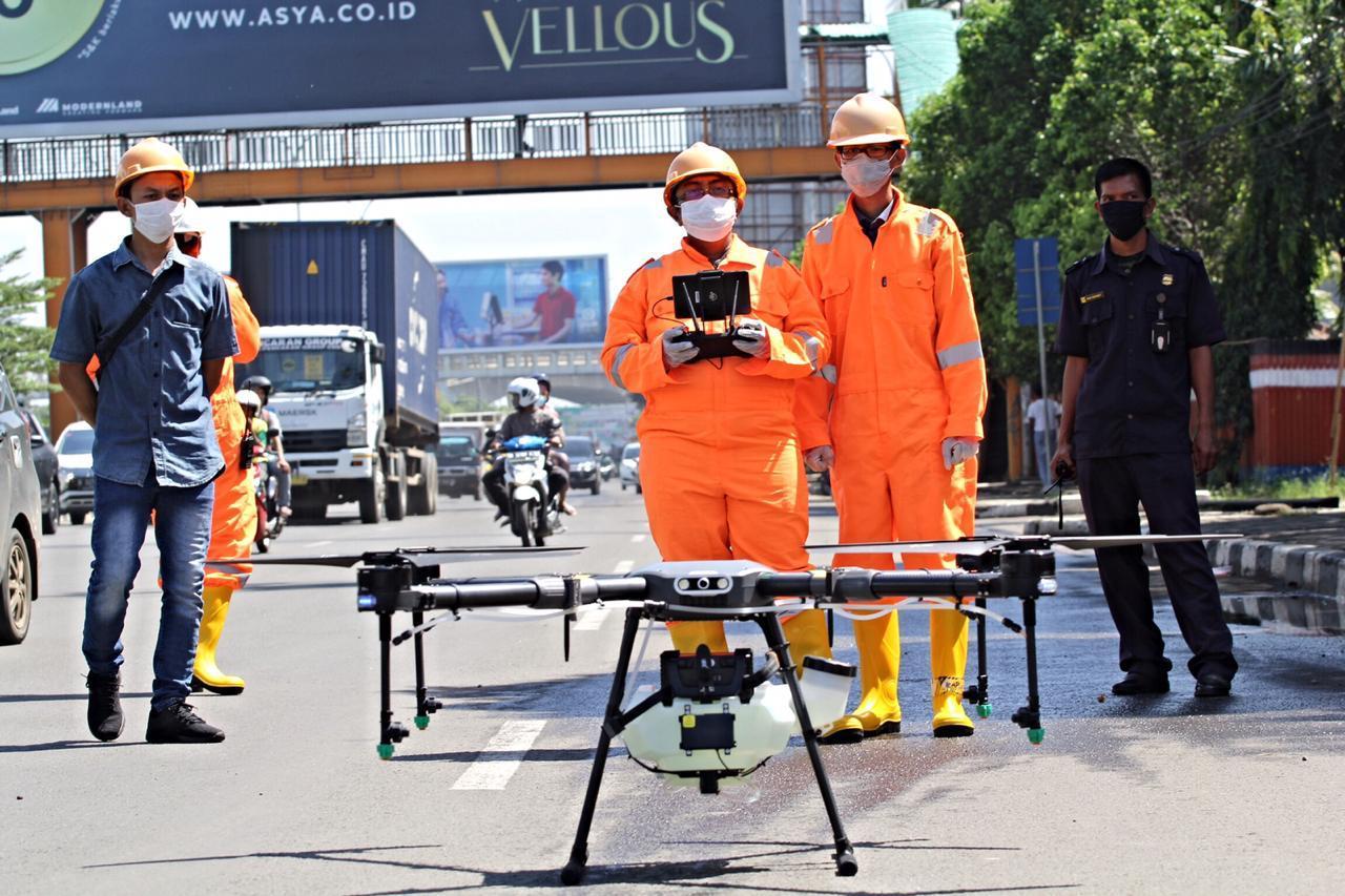 Pemkot Bekasi Gunakan Drone Untuk Semprot Disinfektan