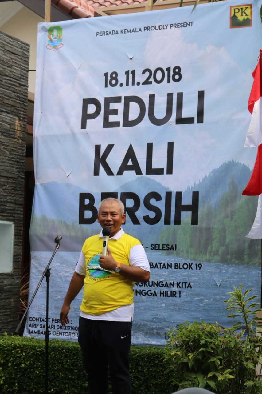 Warga RW 13 Kelurahan Jakasampurna adakan Peduli Kali Bersih, Wali Kota Semangati Program Tersebut.