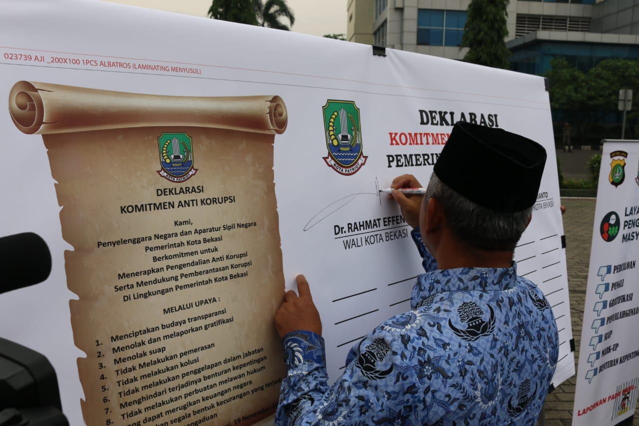 Pemerintah Kota Bekasi Peringati Hari Kesadaran Nasional Sekaligus Deklarasi Komitmen Anti Korupsi