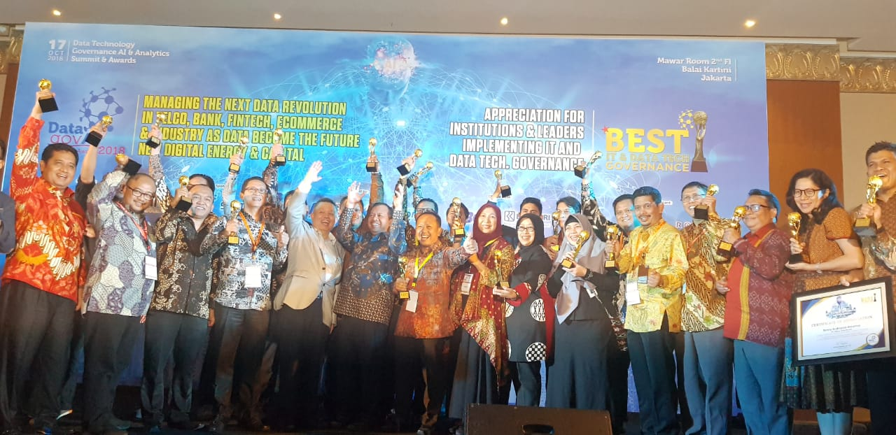 Kota Bekasi Raih Penghargaan The Best Data and Security Governance