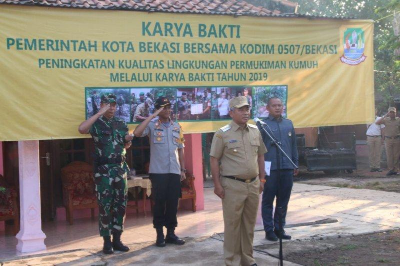 Wali Kota Bersama Dandim dan Wakapolres Resmikan Penataan Pemukiman Kumuh Karya Bhakti Tahun 2019