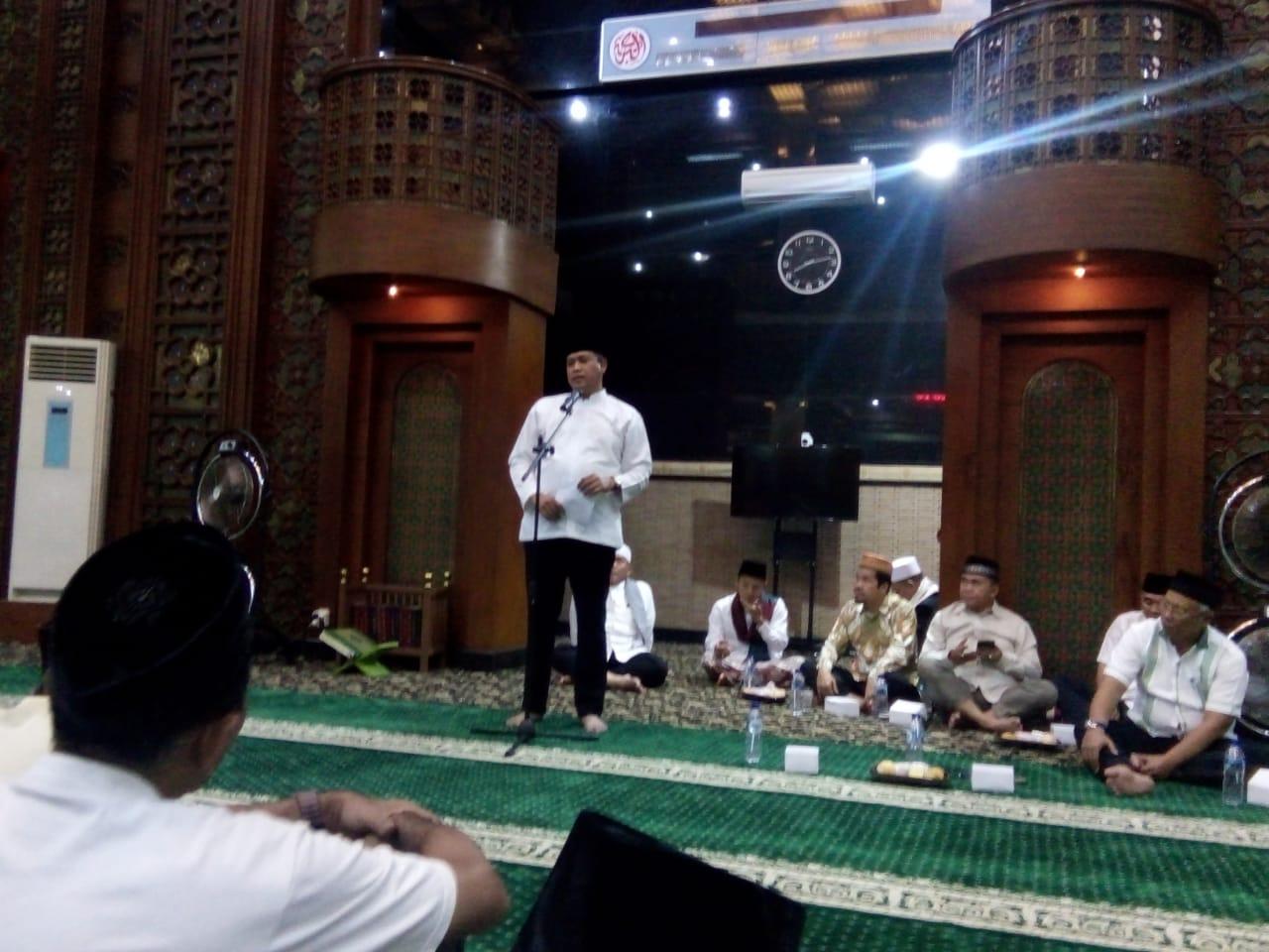 Wakil Walikota Bekasi Hadiri Peringatan Isra Mi'raj 1440 Hijriyah di Masjid Agung Al Barkah