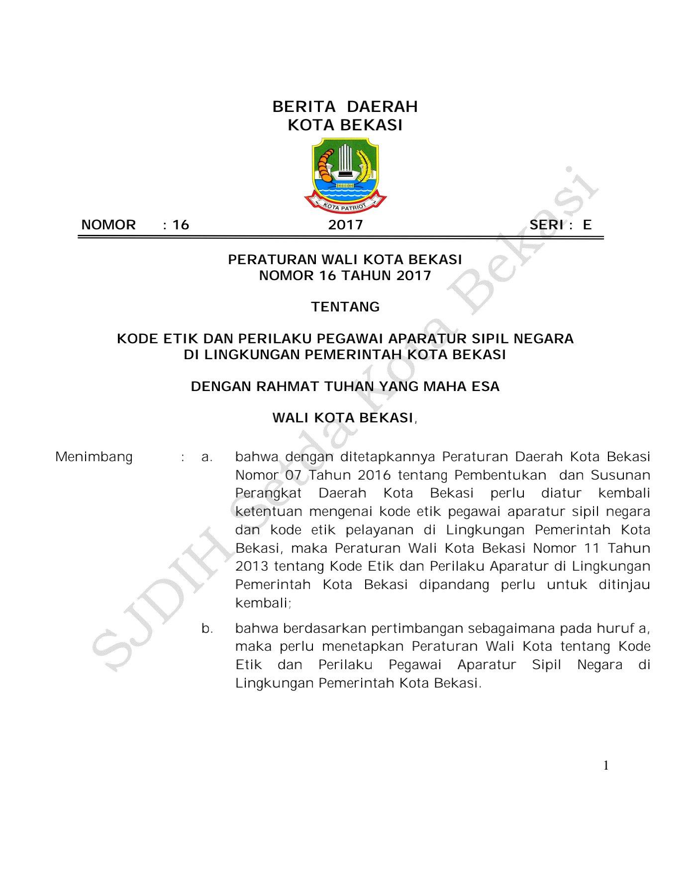 BKPPD Kota Bekasi Bina ASN Diduga Lakukan Pelanggaran Disiplin