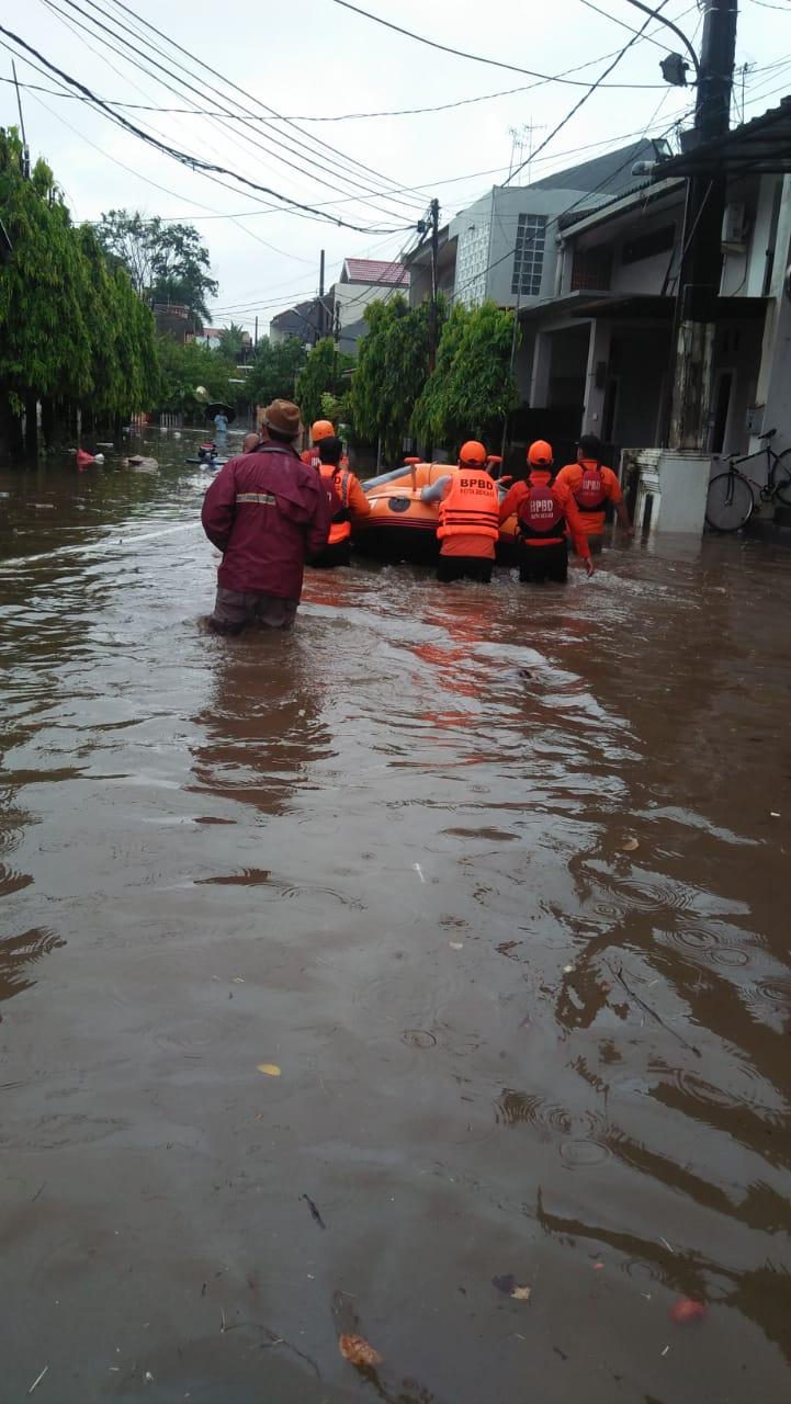 BPBD Laporkan 22 Titik Genangan di 6 Wilayah Kota Bekasi Hari Ini