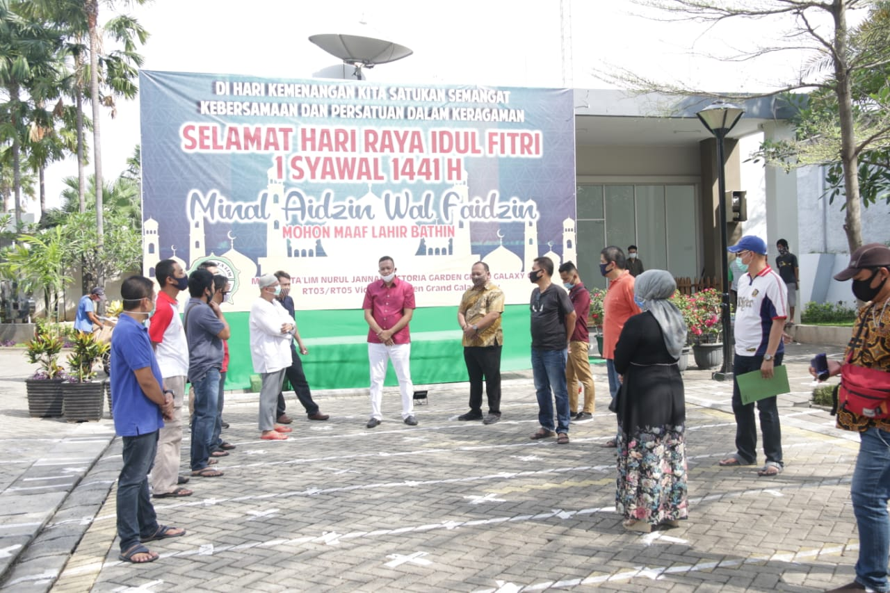 Wakil Wali Kota Bekasi, Tri Adhianto Tinjau Lokasi Zona Hijau Sholat Idul Fitri 1441 H