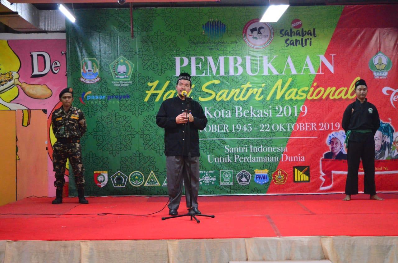 Ratusan Santri Kota Bekasi Hadir Pembukaan Hari Santri 2019