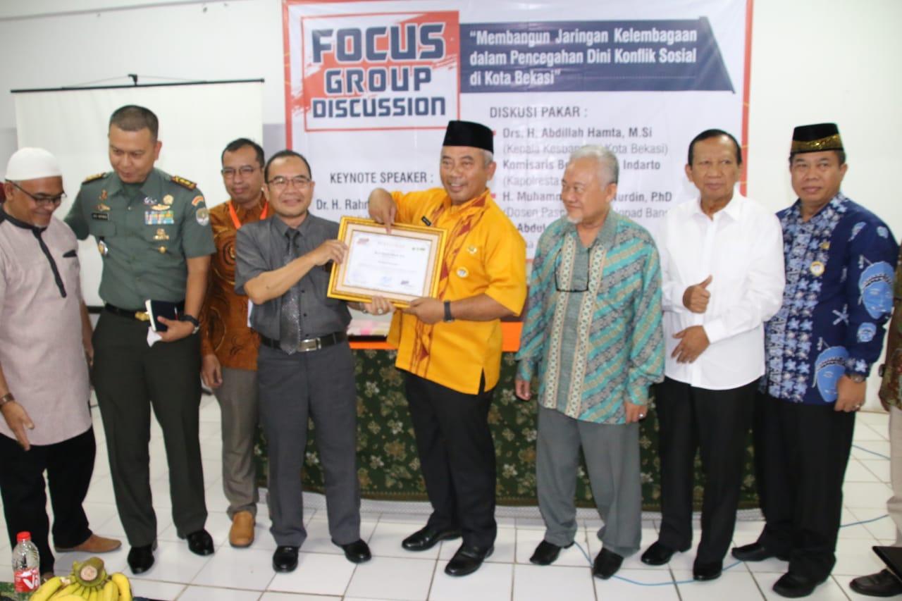 Wali Kota Buka FGD Jaringan Kelembagaan Pencegahan Dini Konflik Sosial Kota Bekasi