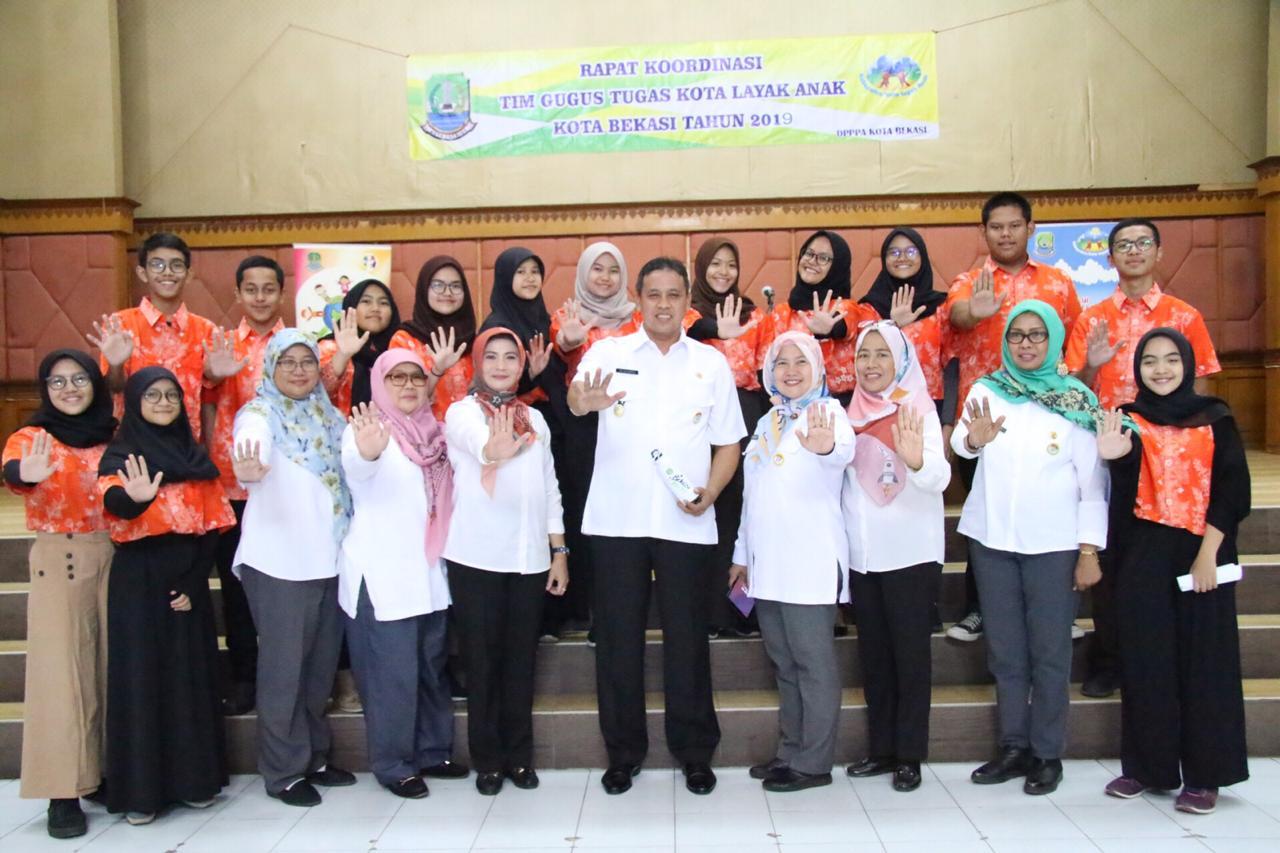 Wakil Walkot Bekasi Buka Rapat Koordinasi Tim Gugus Tugas Kota Layak Anak 2019